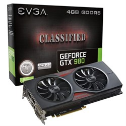 EVGA GTX980 CLASSIFIED ACX 2.0 4GB GDDR5 256bit, DVI-I, DP x 3