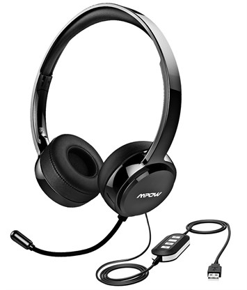 Mpow 071 USB Headset/ 3.5mm Computer Headset With Microphone Noise Cancelling PC