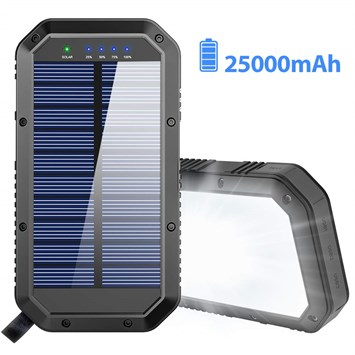Solar Charger, 25000mAh Battery Güneş